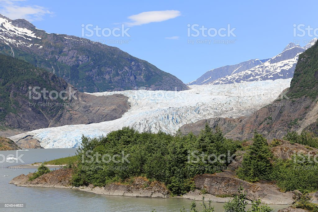 Mandrel Hall Glacier stock photo
