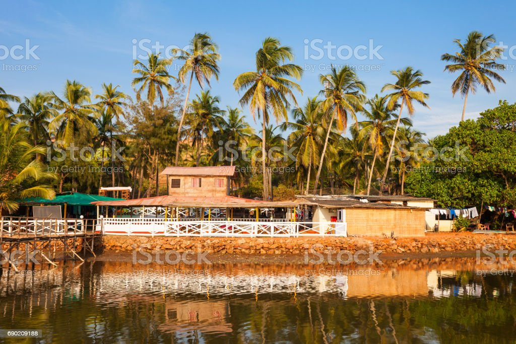 Mandrem beach Goa India stock photo