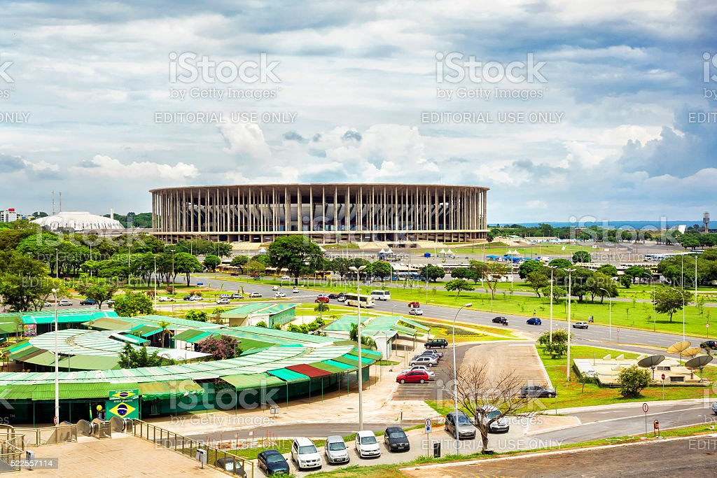 Mane Garrincha Stadium in Brasilia, Capital of Brazil stock photo