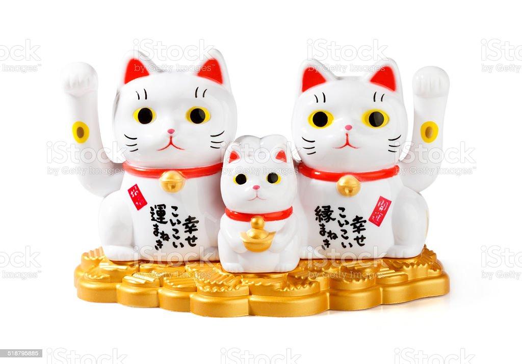 Maneki neko fortune cat stock photo