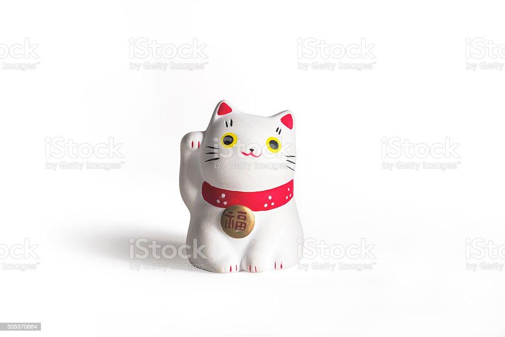 Maneki Neko — Japanese welcoming cat stock photo