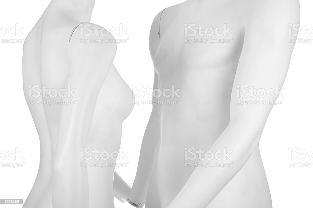 Manequin couple - Love royalty-free stock photo