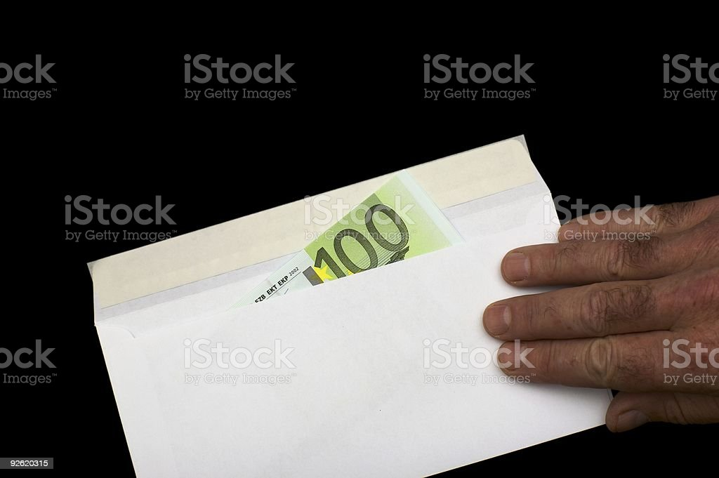 Maney in envelope royalty-free stock photo