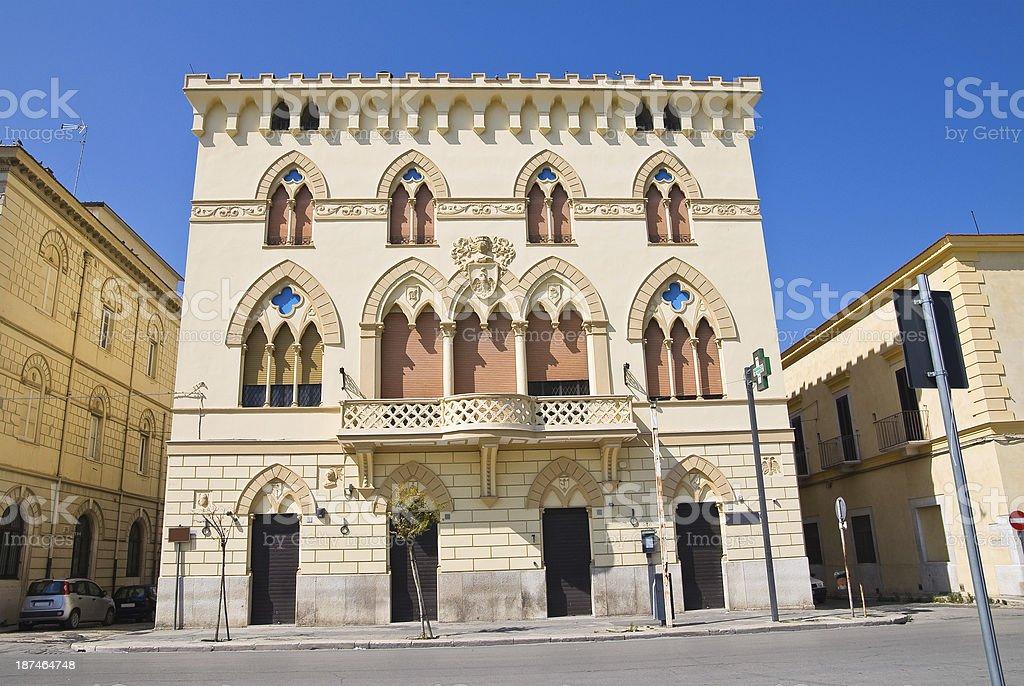 Manfredi Palace. Cerignola. Puglia. Italy. stock photo