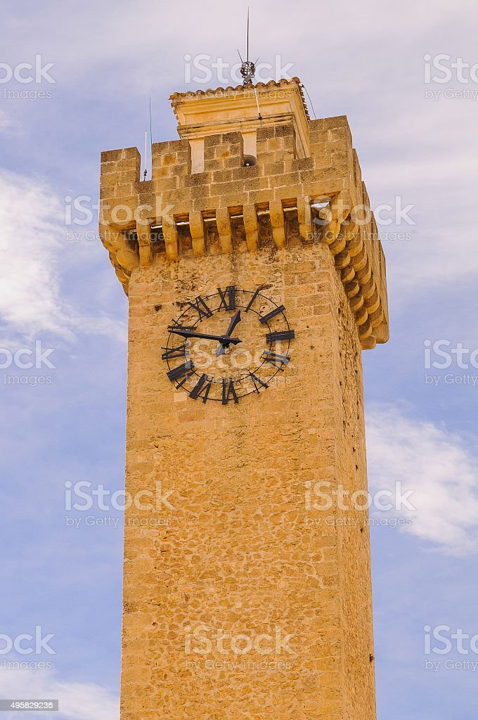 Mangana tower stock photo