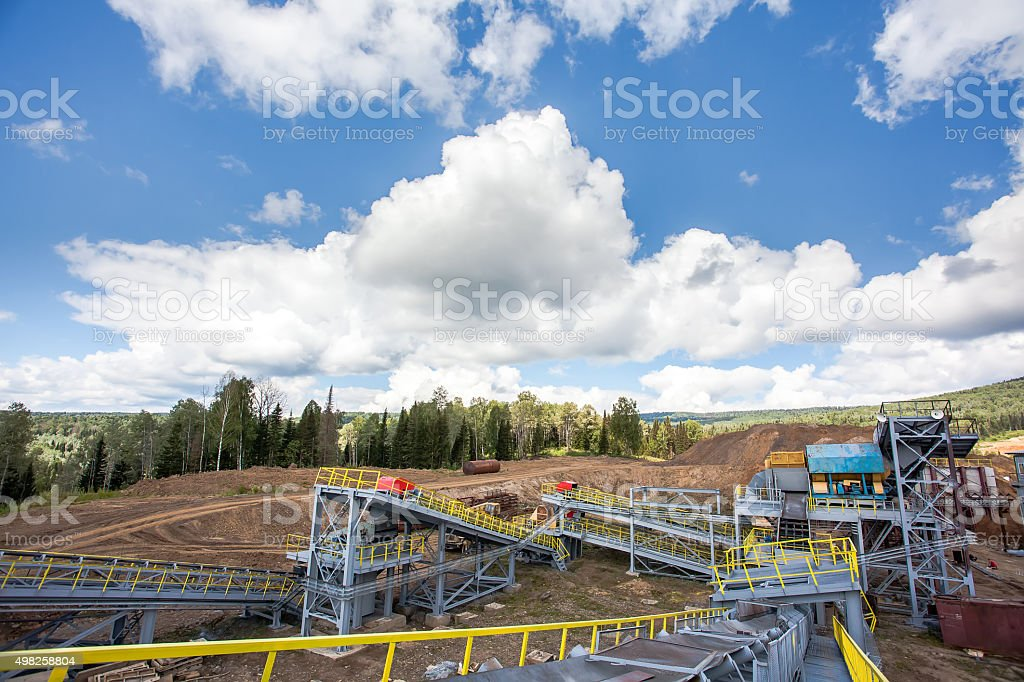 Manganese mine stock photo