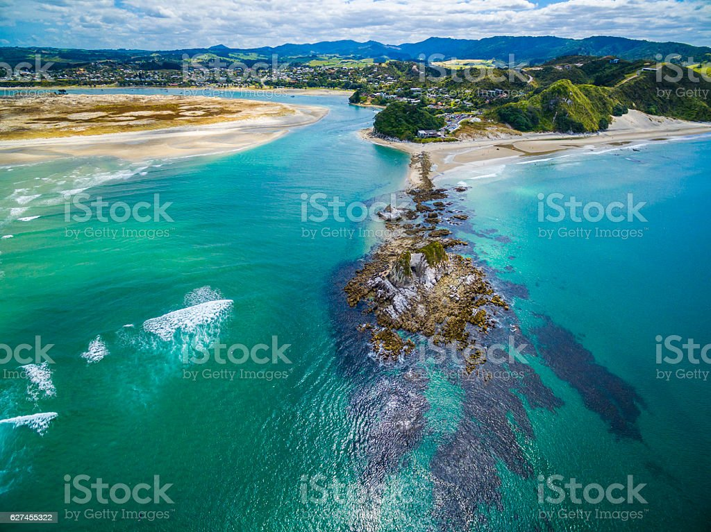 Mangawhai Aerial View stock photo