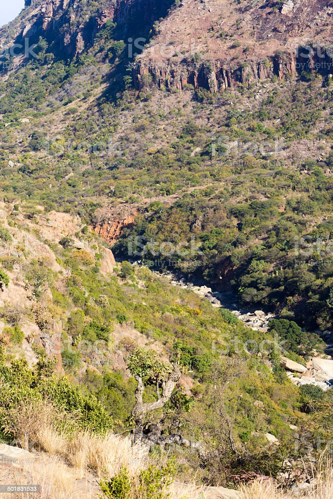 Mangeni Falls in KwaZulu-Natal, South Africa royalty-free stock photo