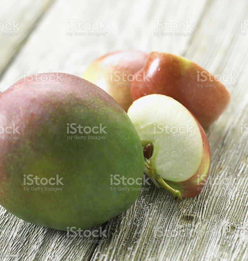 Mango and apples stock photo