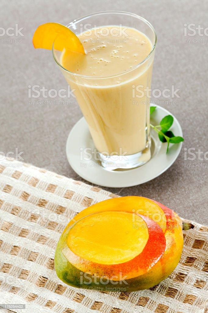 Mango and Banana Smoothie royalty-free stock photo