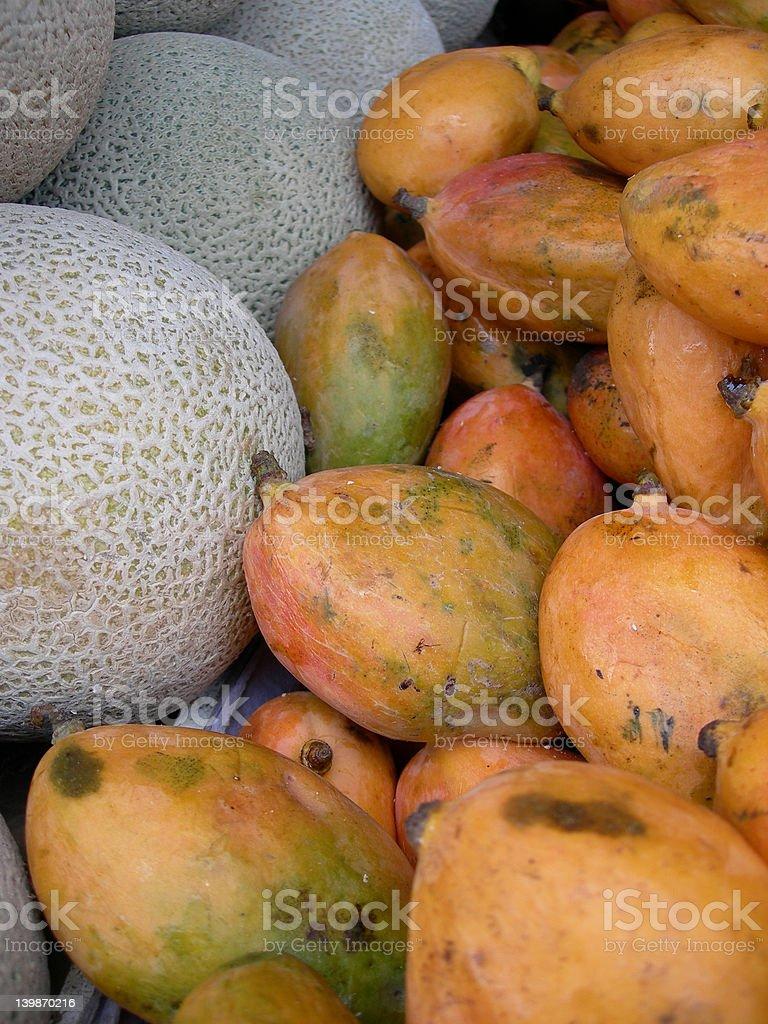 mango and cantaloupe royalty-free stock photo