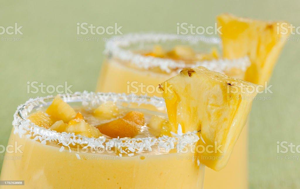 Mango and Pineapple Smoothie royalty-free stock photo