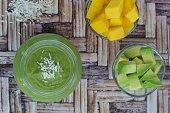 Mango avocado coconut smoothie