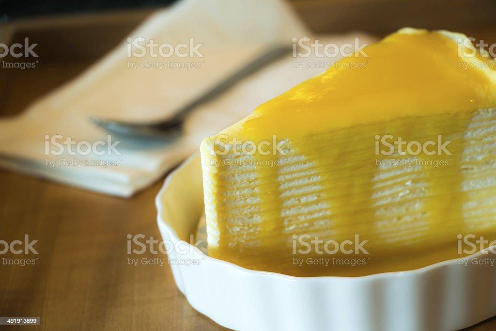 Mango cake stock photo
