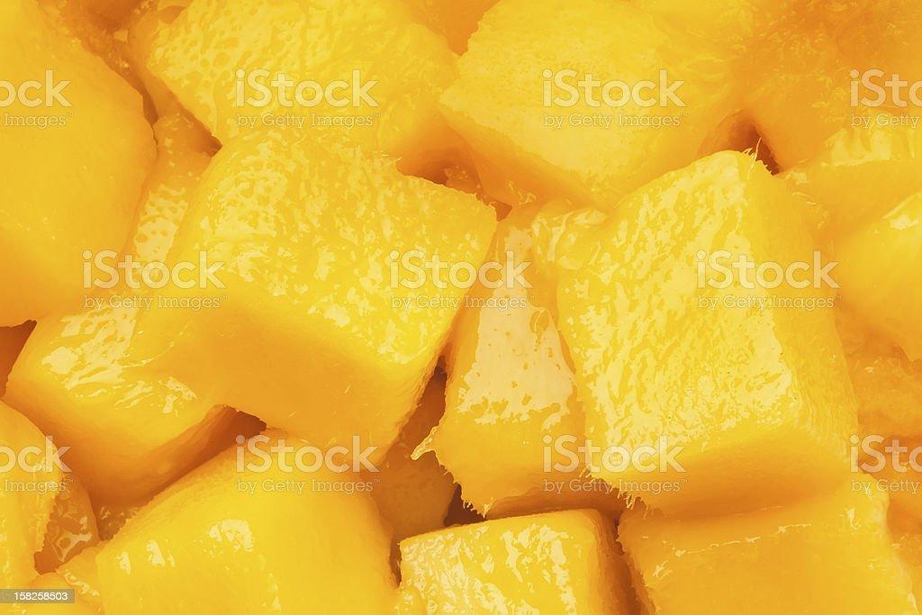 mango chunks stock photo