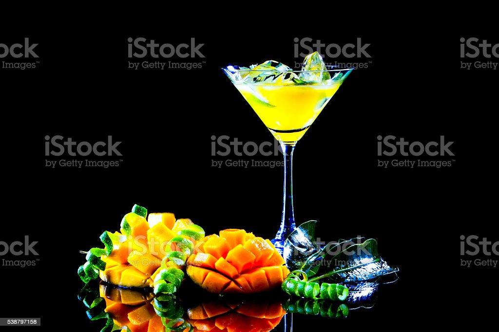 Mango Cocktail stock photo