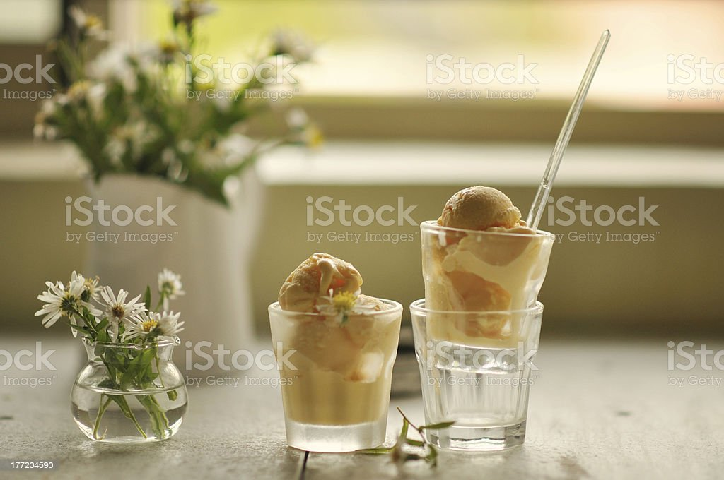 Mango Frozen Yogurt royalty-free stock photo