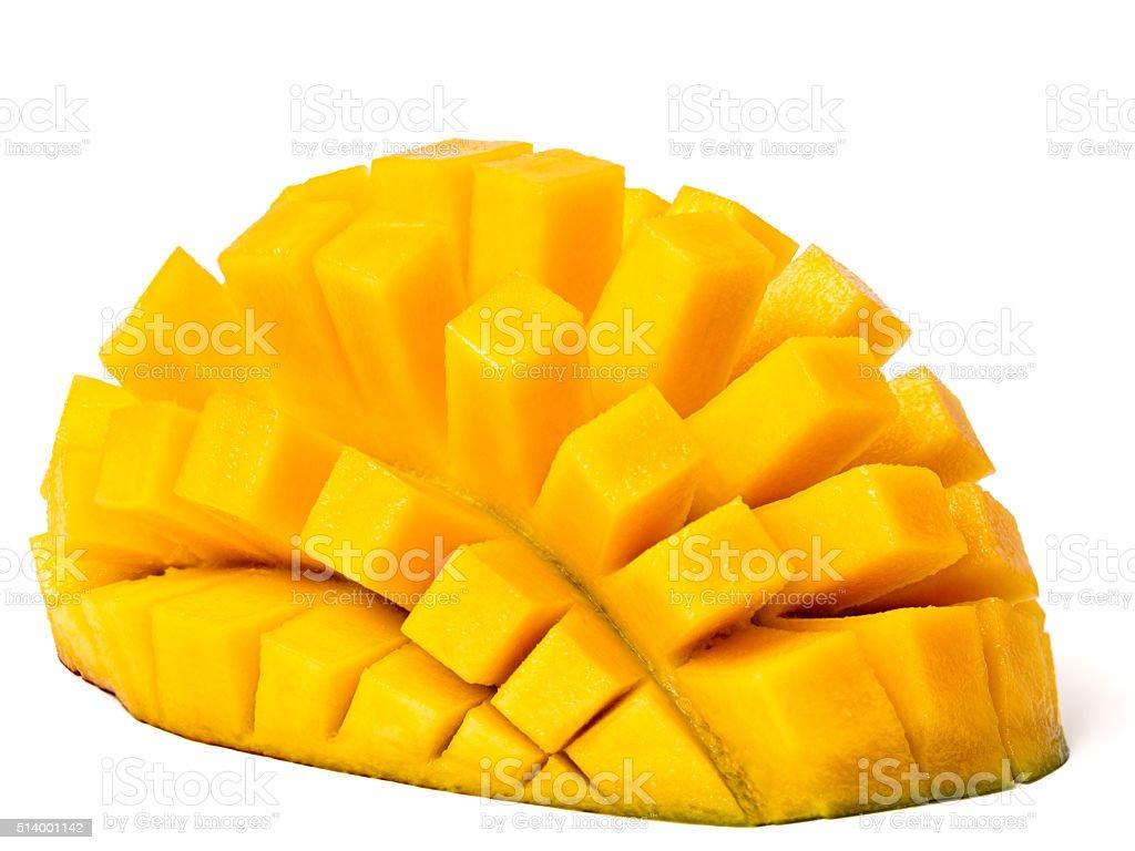 Mango Hedgehog Cut stock photo