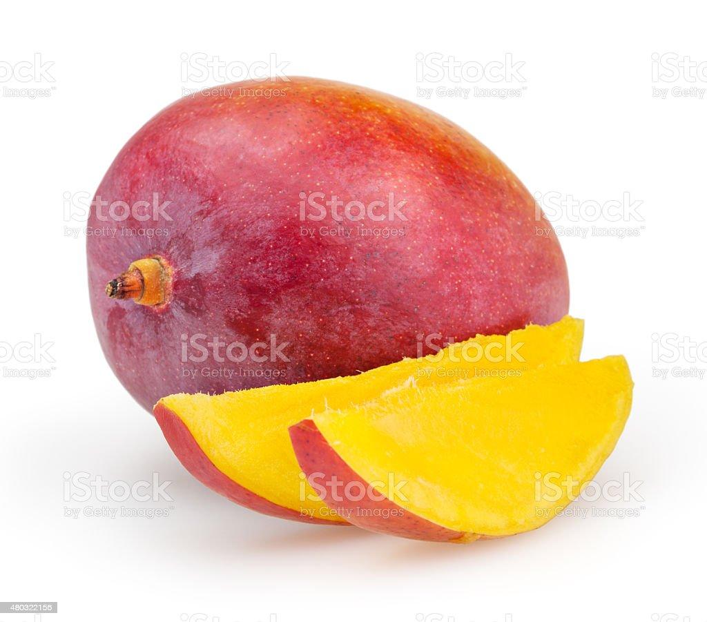 Mango isolated on white background stock photo