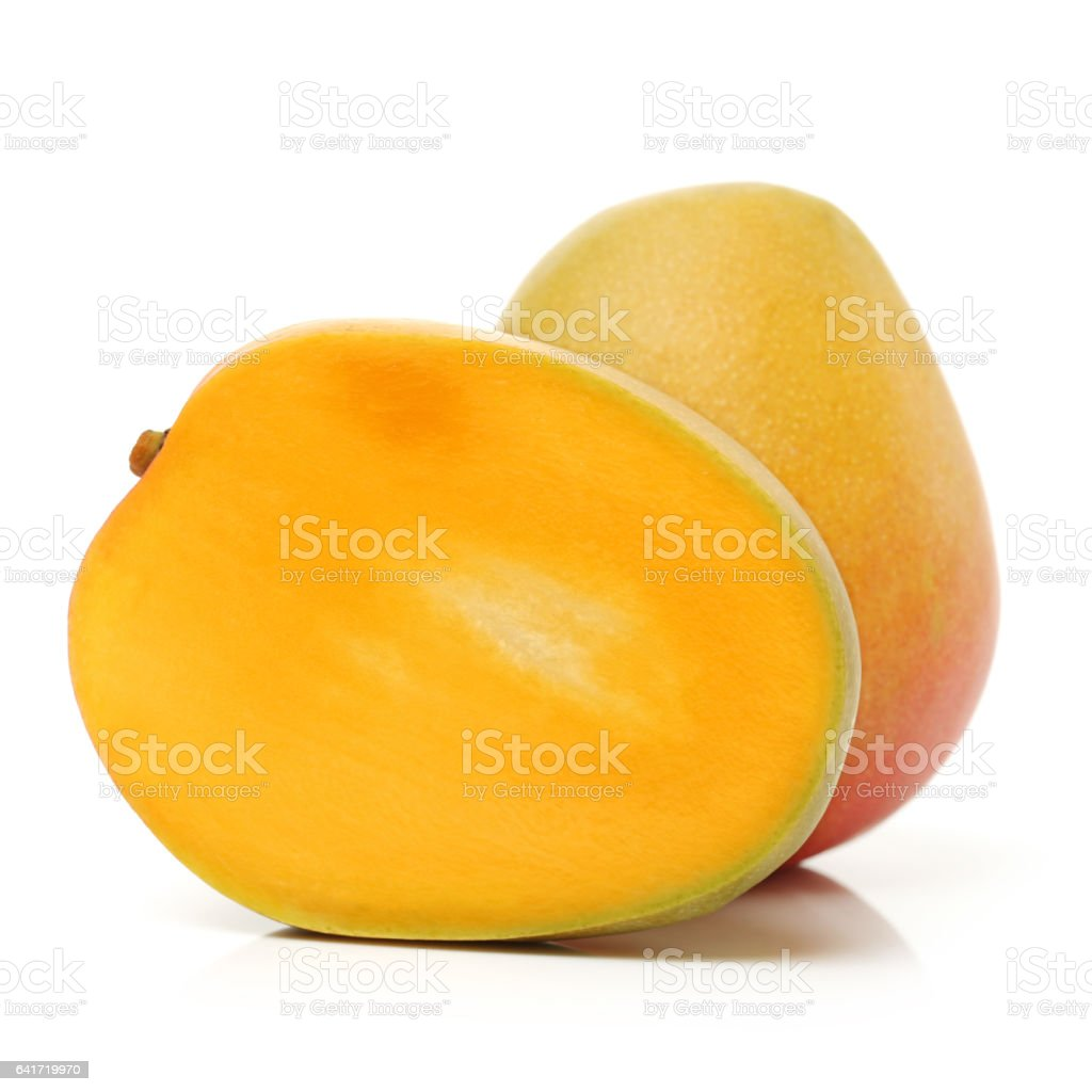 Mango Isolated on White Background stock photo