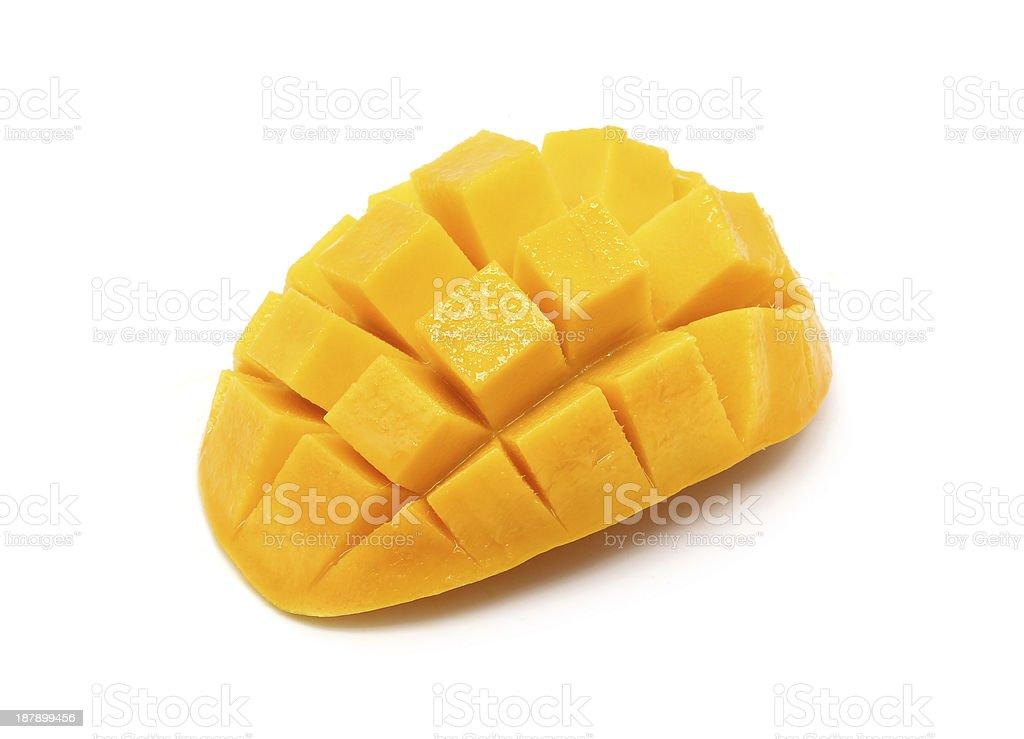 Mango isolated on white stock photo