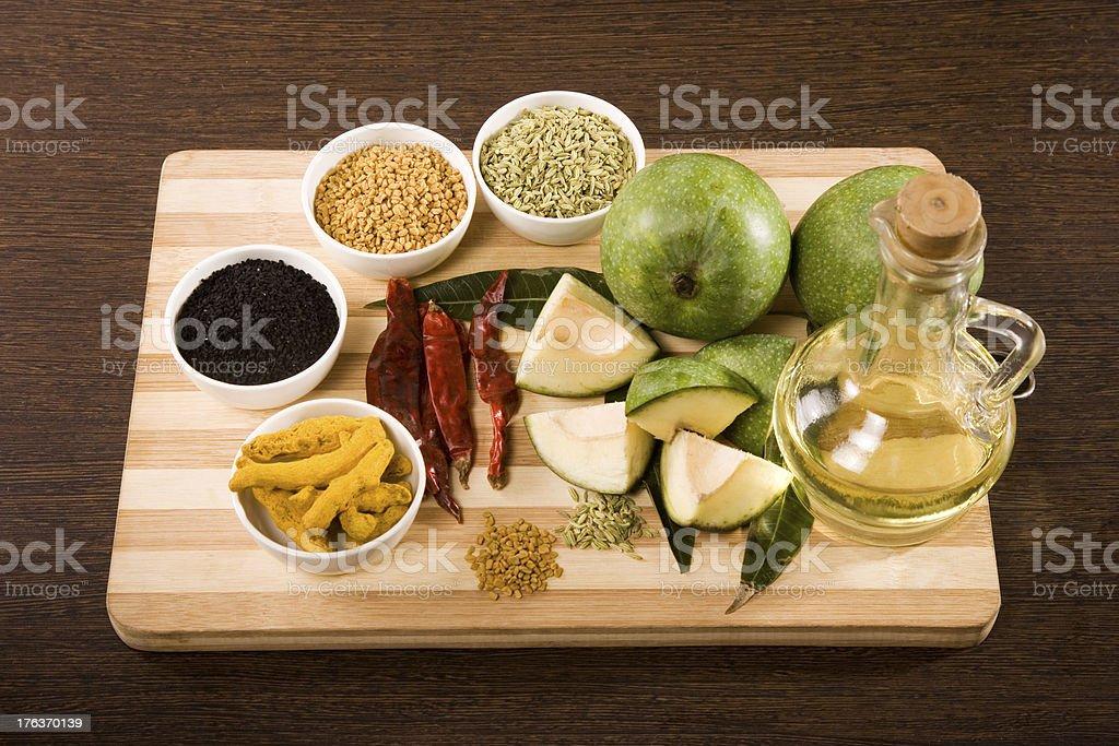 Mango Pickle Ingredients stock photo