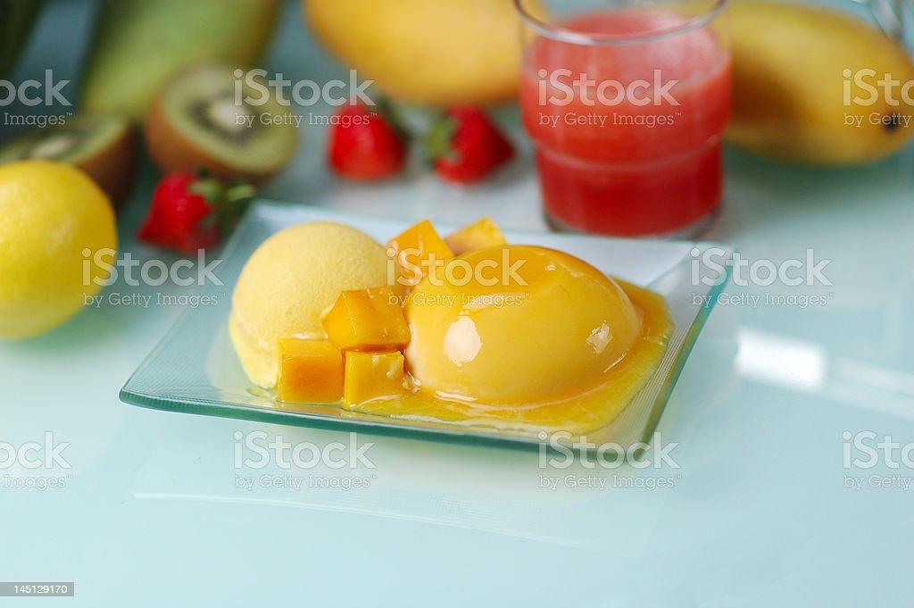 mango pudding royalty-free stock photo