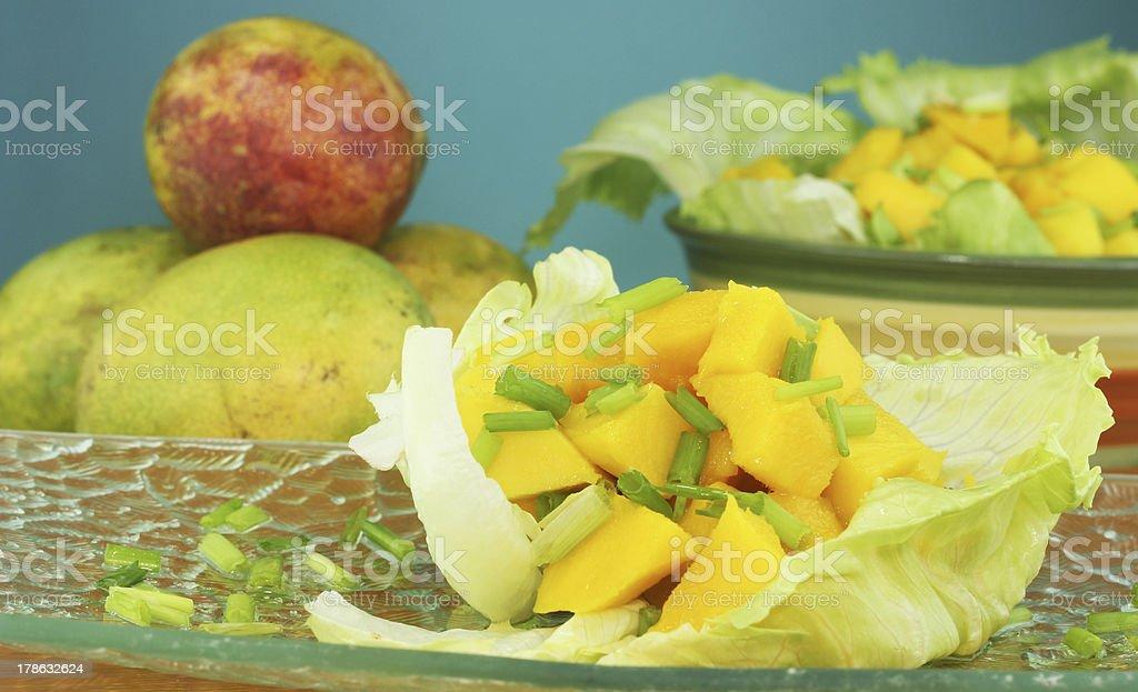 mango salad stock photo