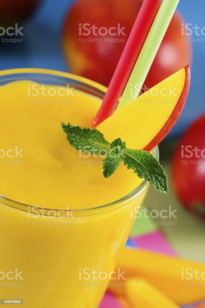 Mango smoothie royalty-free stock photo