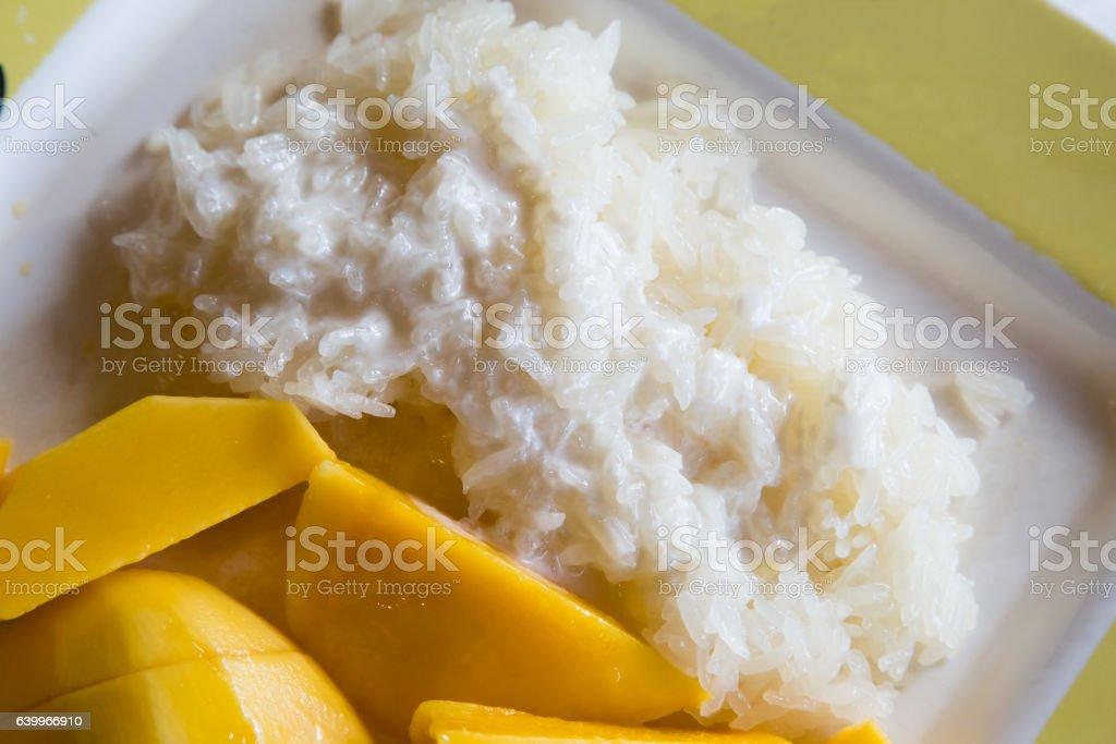 Mango Sticky Rice stock photo
