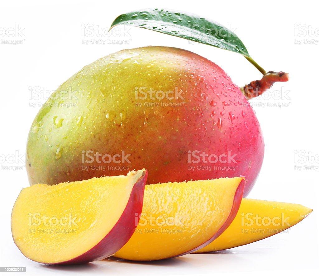 Mango with slices stock photo