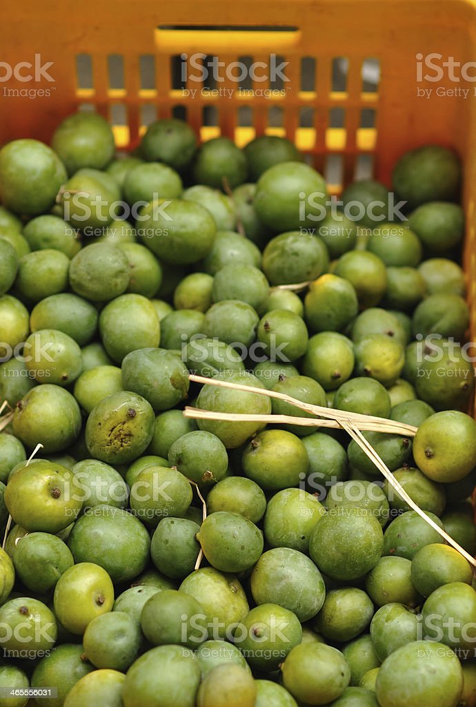 Mangoes in a market royalty-free stock photo