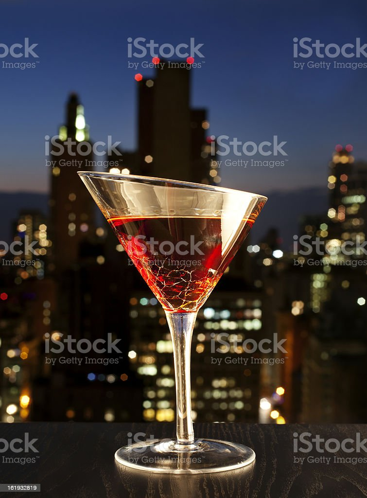 Manhatan cocktail stock photo