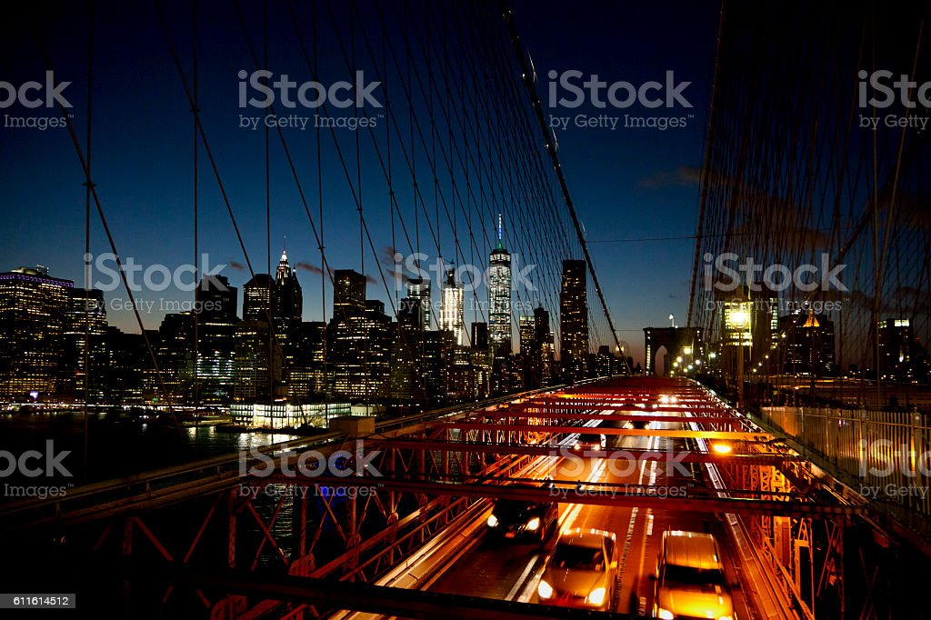 Manhattan and Brooklyn Bridge stock photo