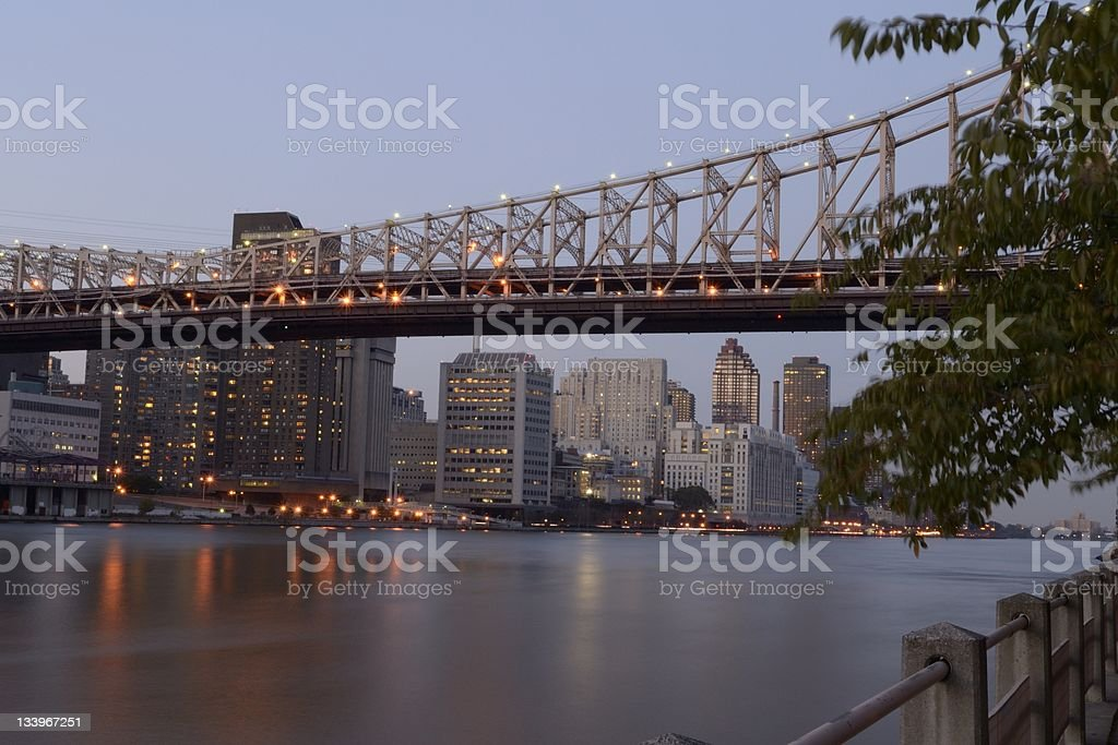 Manhattan and East River royalty-free stock photo