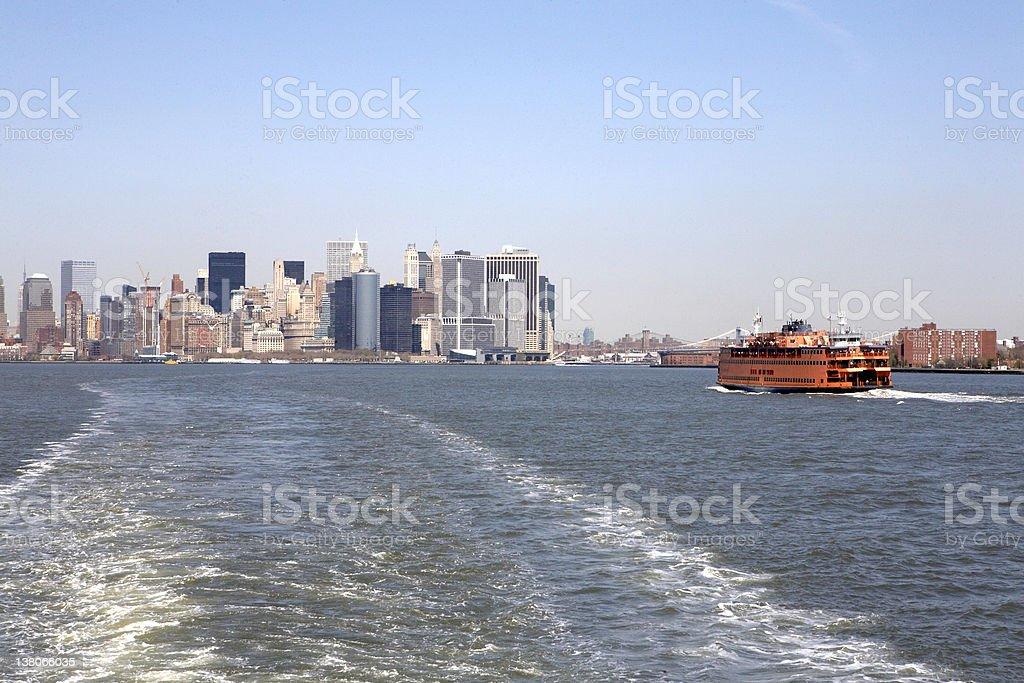 Manhattan and Staten Island Ferry royalty-free stock photo