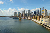 Manhattan at sunny day.