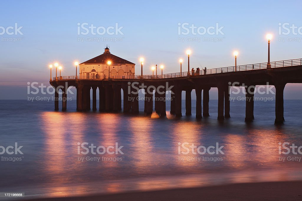Manhattan Beach Pier royalty-free stock photo