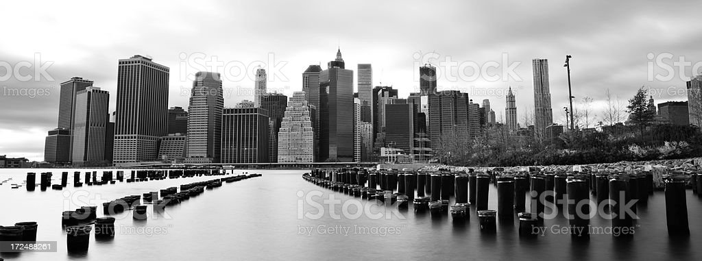 NYC Manhattan black and white royalty-free stock photo