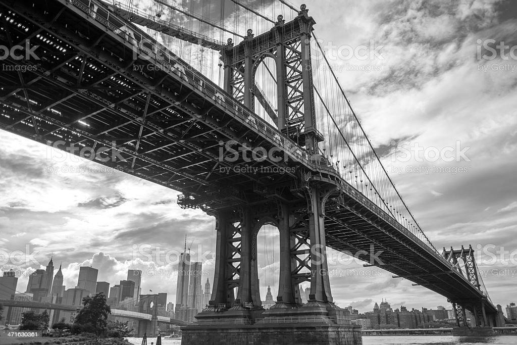 Manhattan Bridge and Freedom Tower royalty-free stock photo