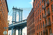 Manhattan Bridge at Brooklyn street