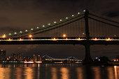Manhattan Bridge at late night