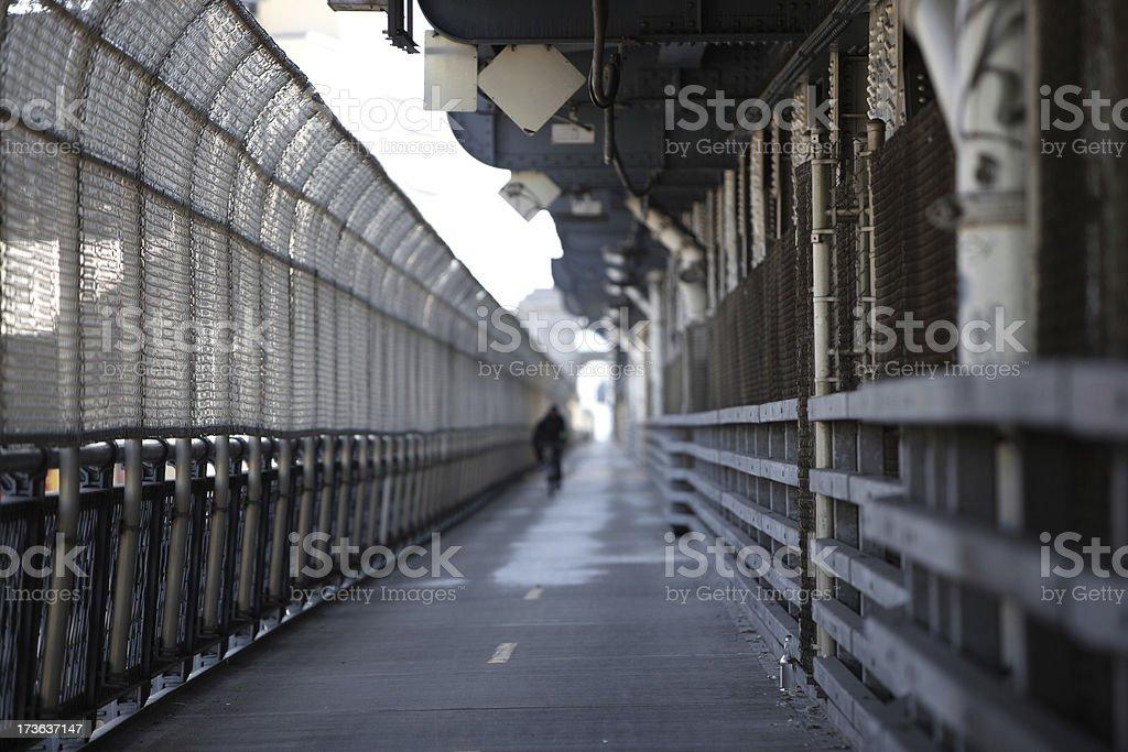 Manhattan Bridge Bike Lane stock photo
