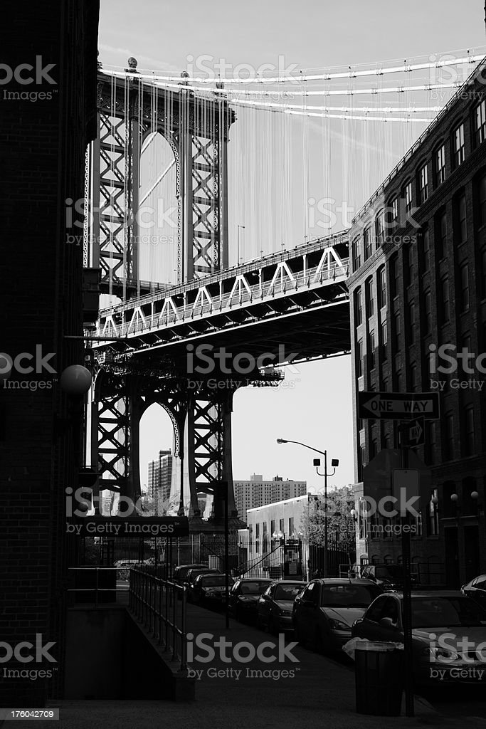 Manhattan Bridge DUMBO View Brooklyn royalty-free stock photo