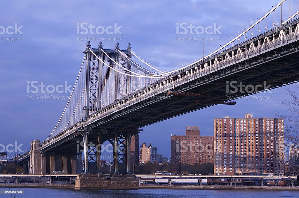 Manhattan Bridge in afternoon light. royalty-free stock photo