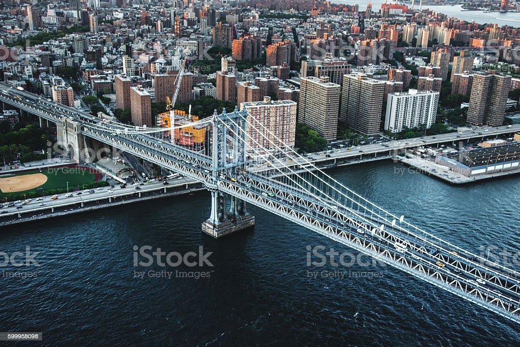 Manhattan Bridge in New york city stock photo