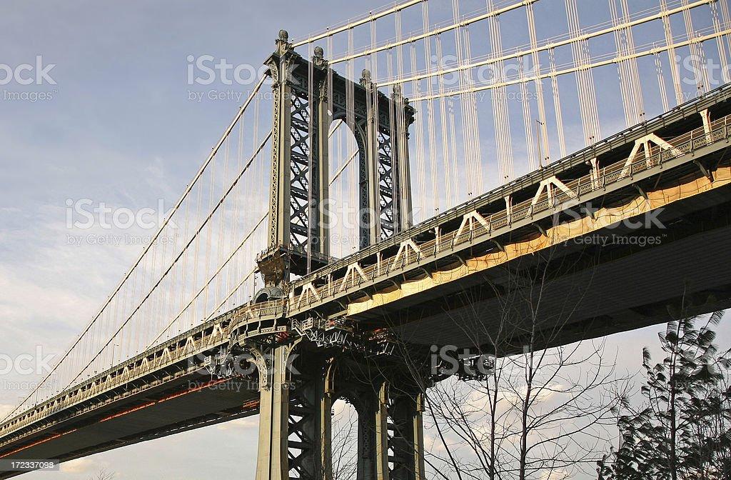 Manhattan Bridge, Low Angle View royalty-free stock photo