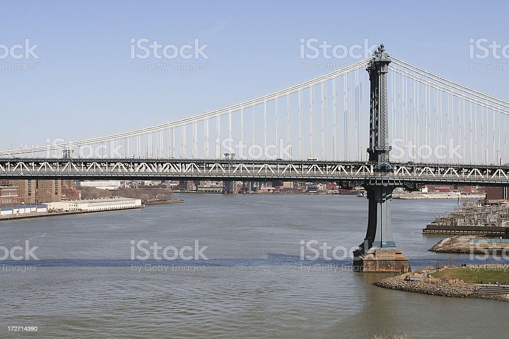 Manhattan Bridge, New York City royalty-free stock photo