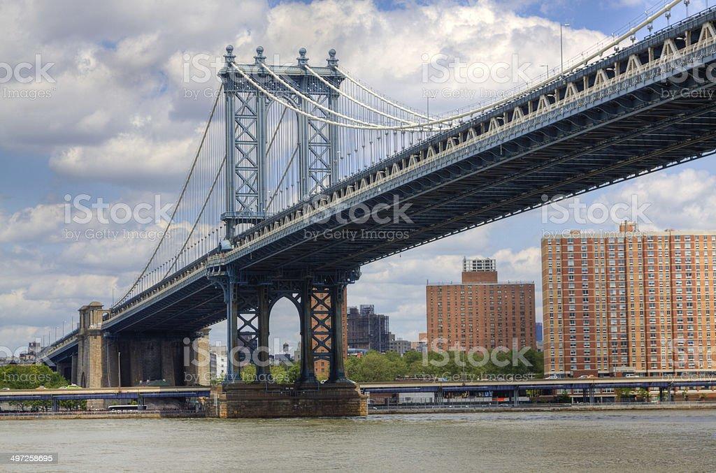 Manhattan Bridge, New York City. stock photo