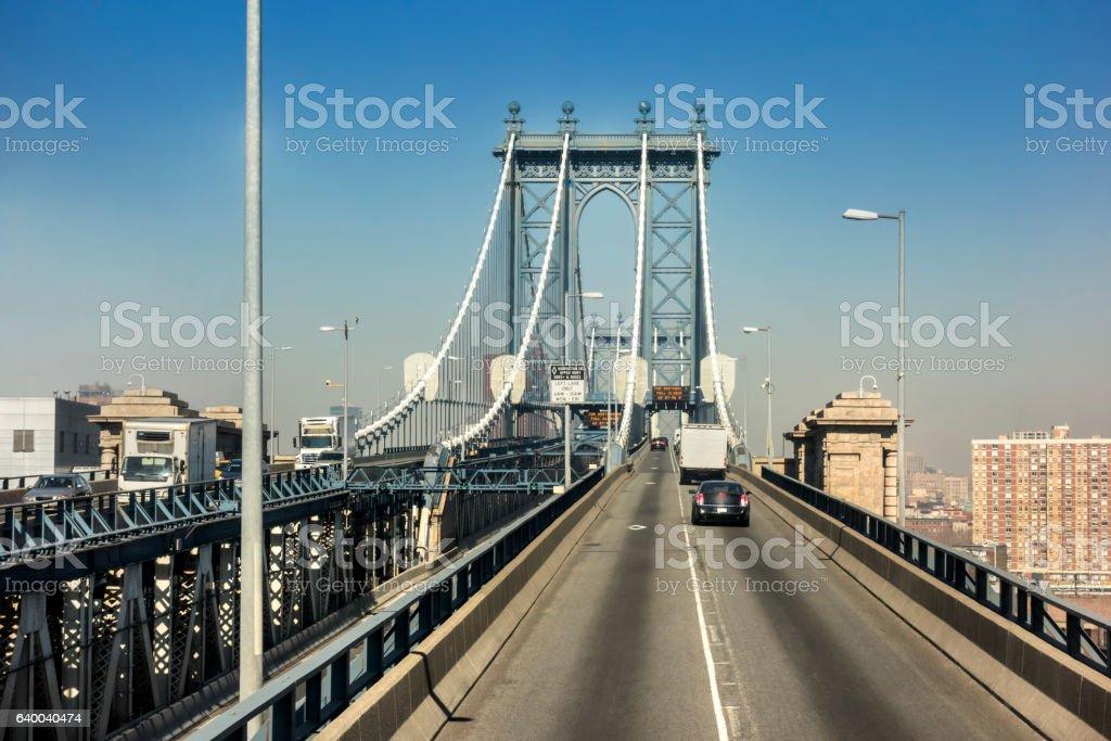Manhattan bridge. New York city stock photo
